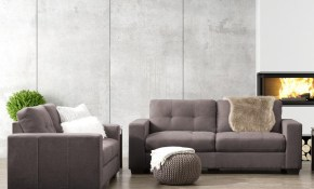 Corliving Club 2 Piece Tufted Grey Chenille Fabric Sofa Set Lzy 131 with regard to Tufted Living Room Set