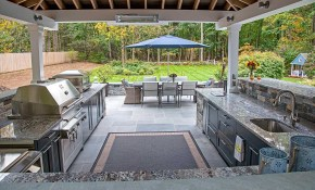 Covered Outdoor Kitchen Ideas Things To Consider regarding Backyard Kitchen Ideas