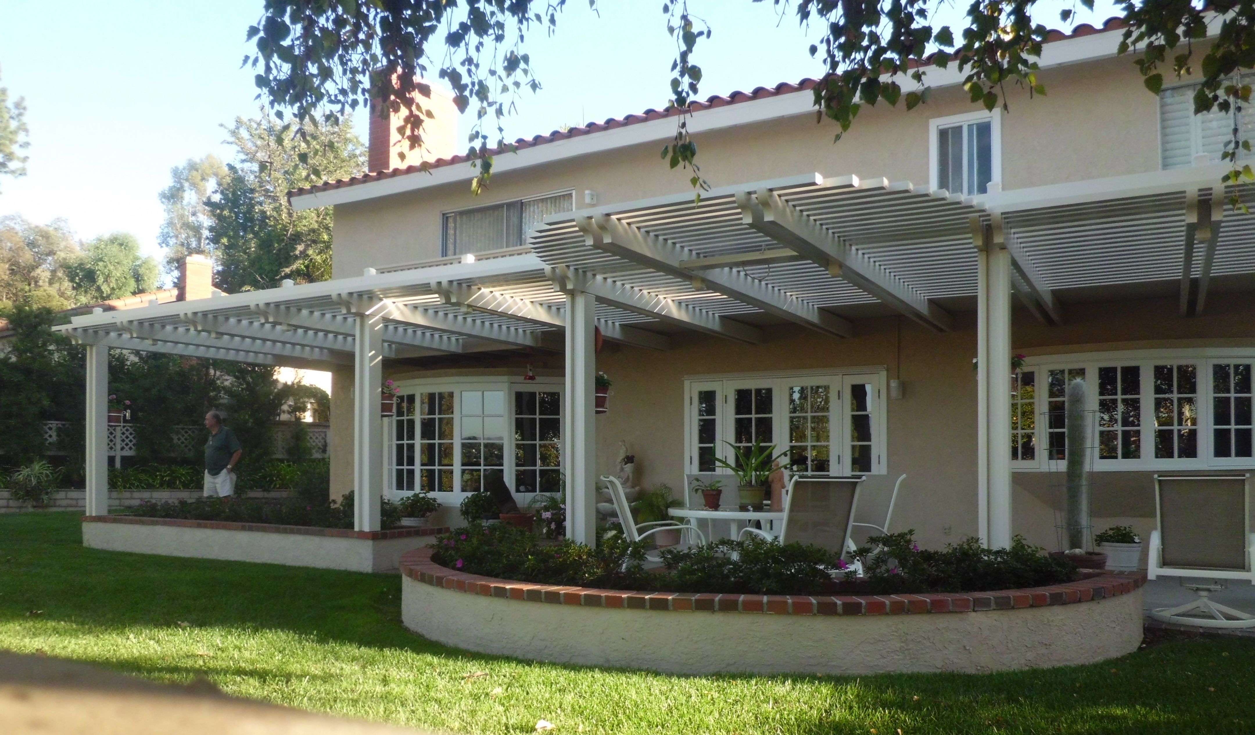 Covered Patio Ideas Open Patio Cover With Radius The Patio Man intended for Covered Patio Ideas For Backyard