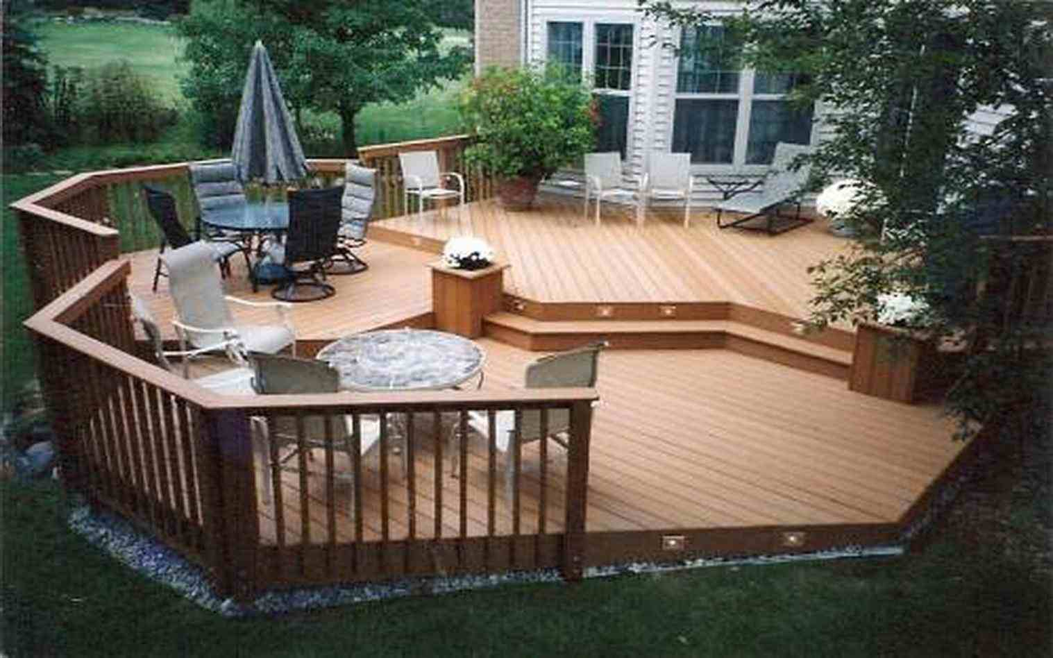 Deck Ideas Patio Small Backyardspatio And For Yards Images On A within Small Deck Ideas For Small Backyards