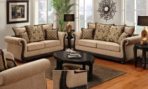 Delray Traditional Loveseat Chair Living Room Furniture Set Taupe within 12 Smart Ideas How to Build Chair Set Living Room