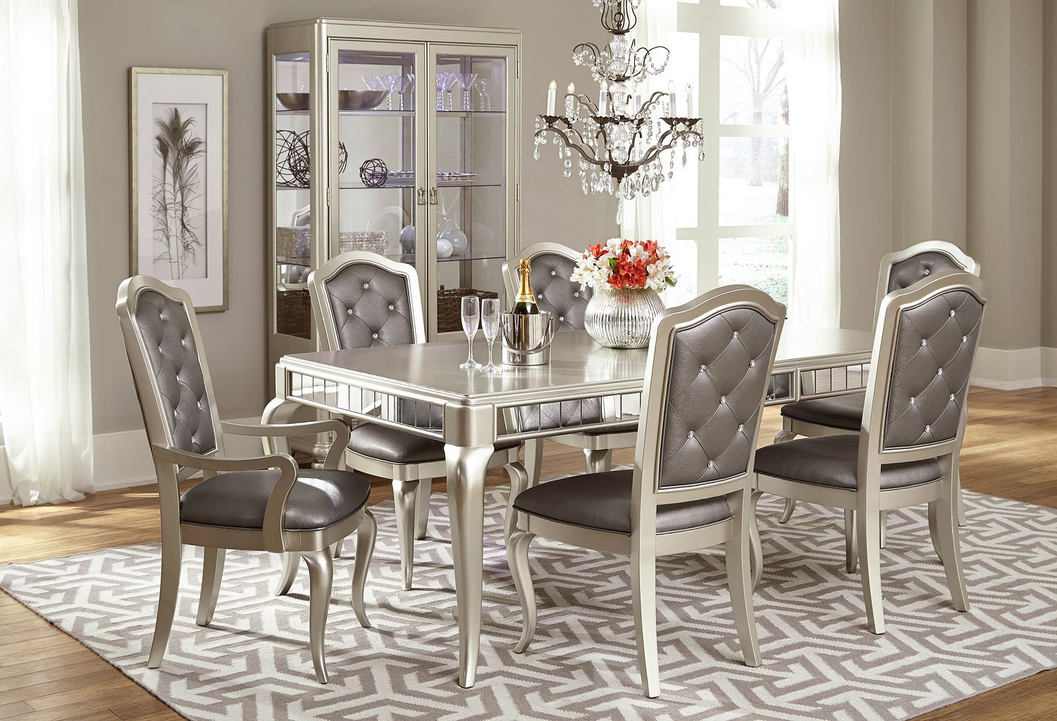 Diva Dining Room Set Samuel Lawrence Furniture 1 Reviews inside 15 Clever Ways How to Make Dining And Living Room Sets