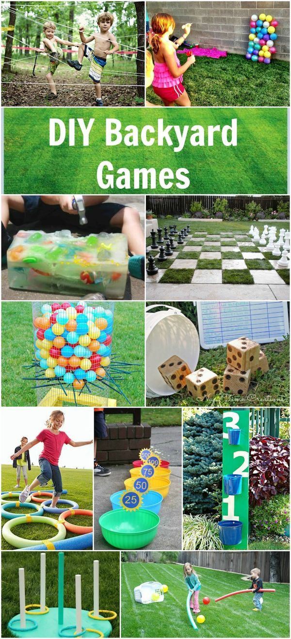 Diy Backyard Games Outdoor Party Games And Fun Backyard Games in 15 Awesome Designs of How to Craft Backyard Game Ideas For Adults