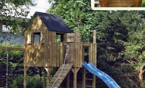 Diy Backyard Playhouse Childrens Outdoor Plans Build Playhouses within Backyard Playhouse Ideas