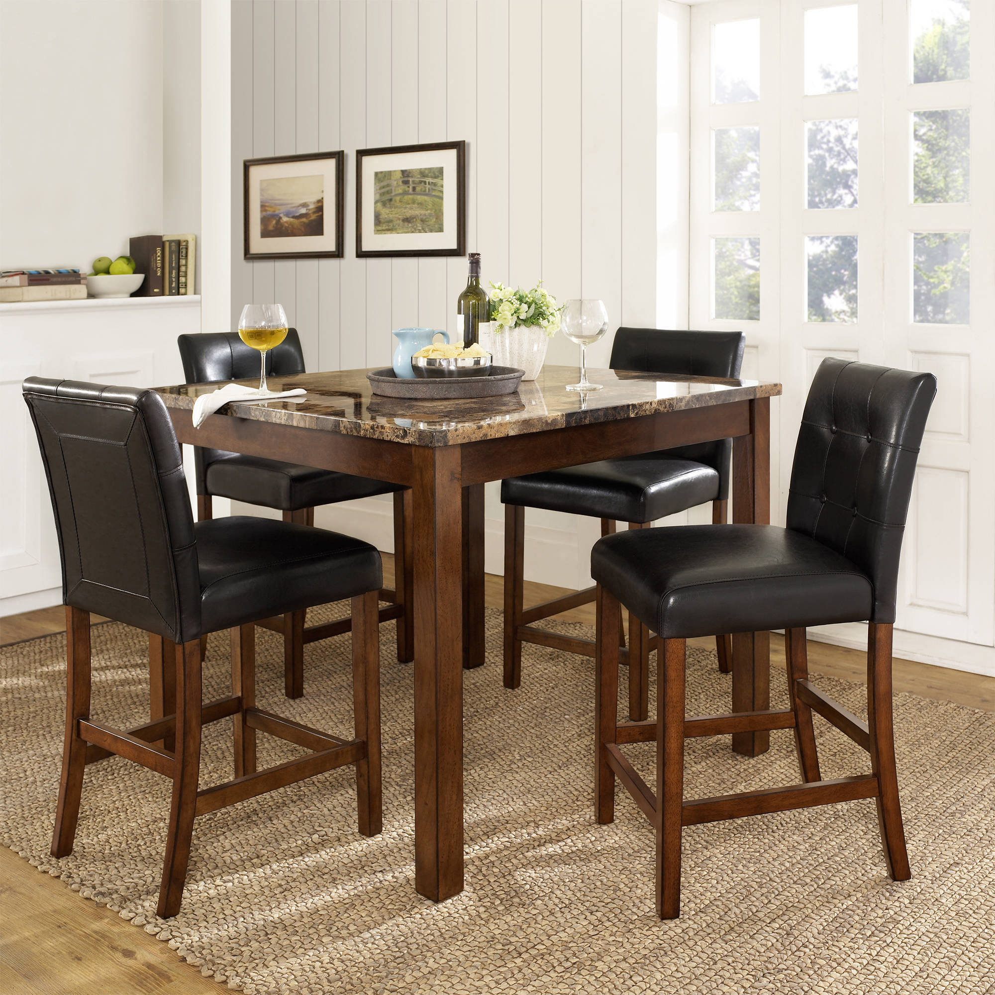 Dorel Living Andover 5 Piece Counter Height Dining Set Multiple pertaining to Full Living Room Sets Cheap