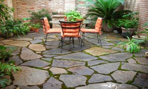 Easy Patio Flooring Backyard Stone Patio Ideas Outdoor Outdoor pertaining to 13 Some of the Coolest Initiatives of How to Improve Backyard Stone Patio Ideas
