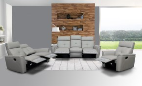 Elegant Leather Living Room Set With Tufted Stitching Elements Los throughout Modern Living Room Sets