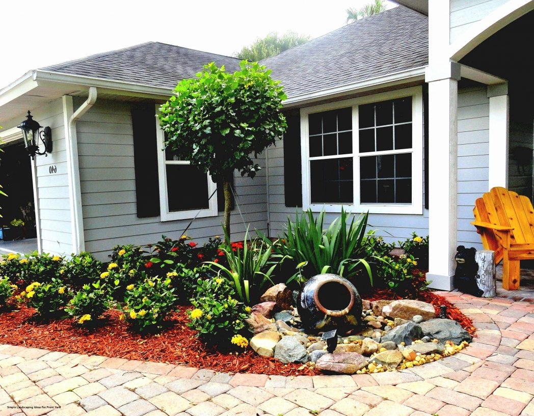 Elegant Simple Front Yard Landscaping Ideas Garden Best Of For On A throughout Texas Backyard Ideas