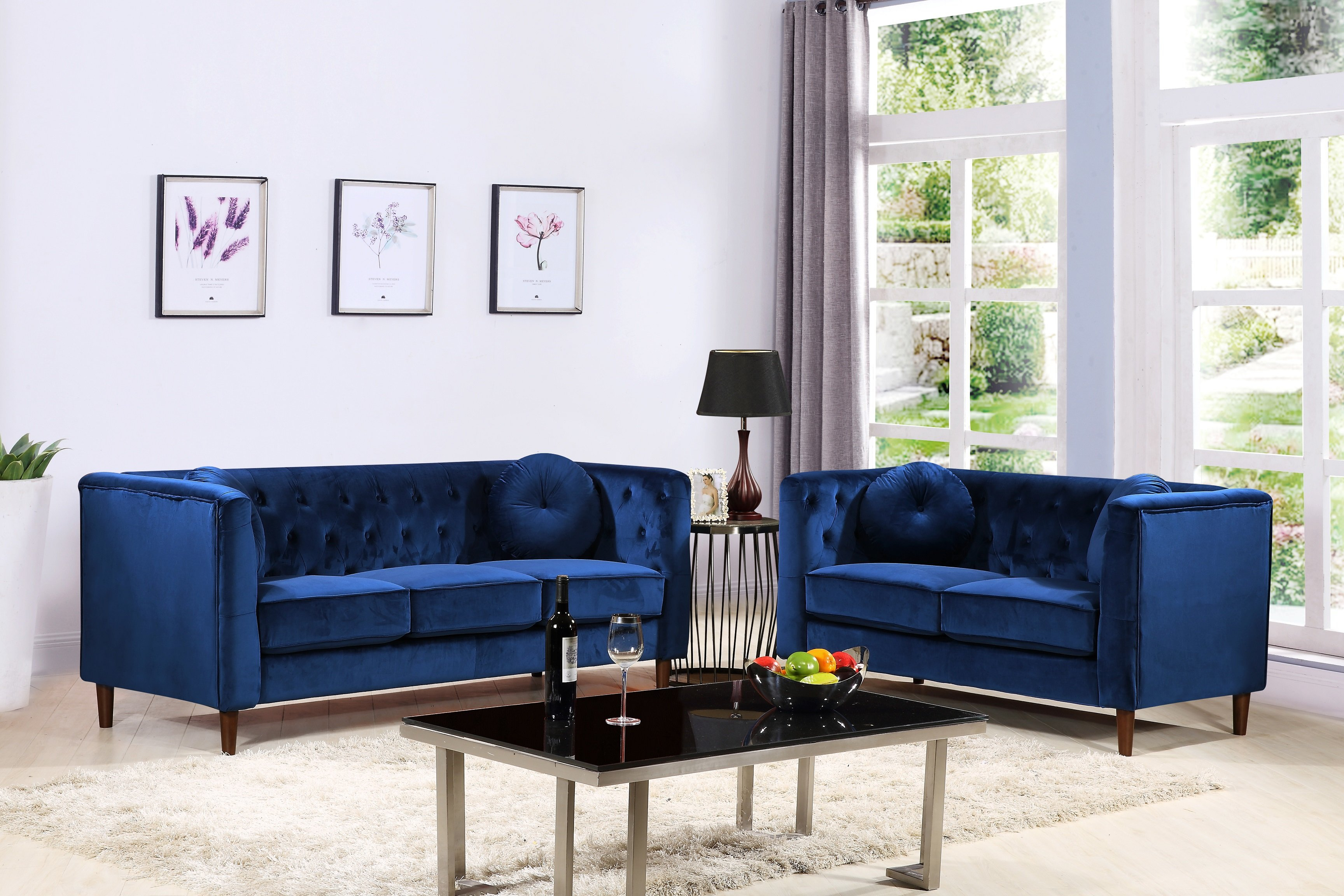 Everly Quinn Kitts Classic Chesterfield 2 Piece Living Room Set in 13 Genius Designs of How to Craft Chesterfield Living Room Set