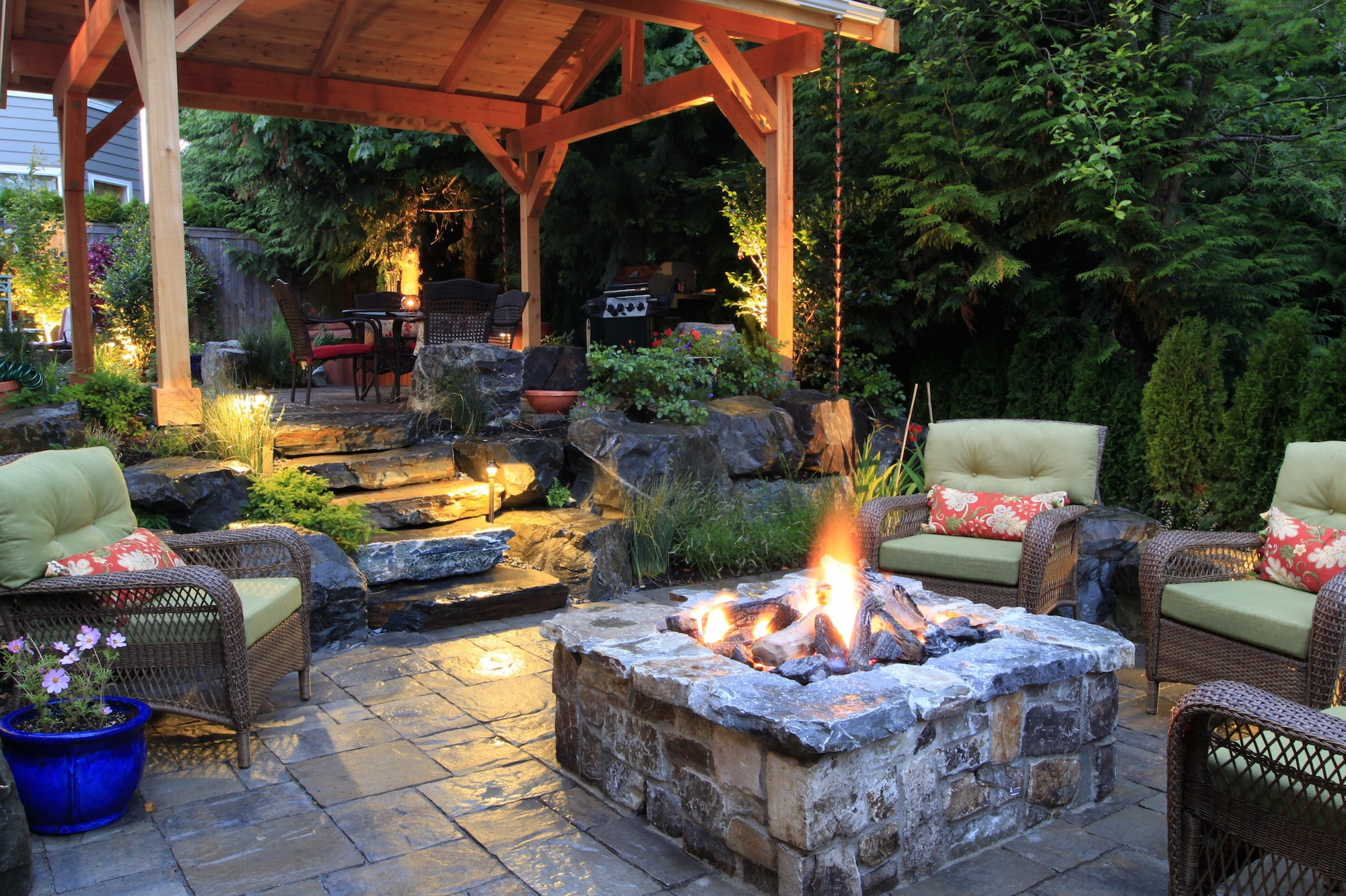 Fire Pit Ideas To Keep You Cozy Year Round Advice Seating Creative pertaining to 14 Genius Designs of How to Improve Backyard With Fire Pit Landscaping Ideas