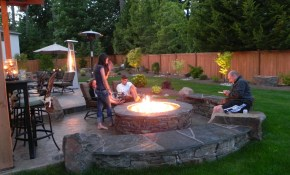 Fireplace Or Fire Pit Backyard Ideas Fire Pit Patio Backyard inside Backyard With Fire Pit Landscaping Ideas