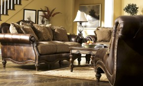 Flowing With The Rich Beauty Of Old World Design The Claremore within Claremore Antique Living Room Set