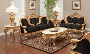 French Gold Leaf Living Room Set Antique Recreations within 13 Awesome Ways How to Build Living Room Set Sale