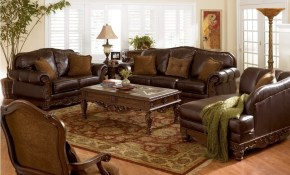 Furniture Traditional Leather Living Room Furniture Set With within Traditional Leather Living Room Sets
