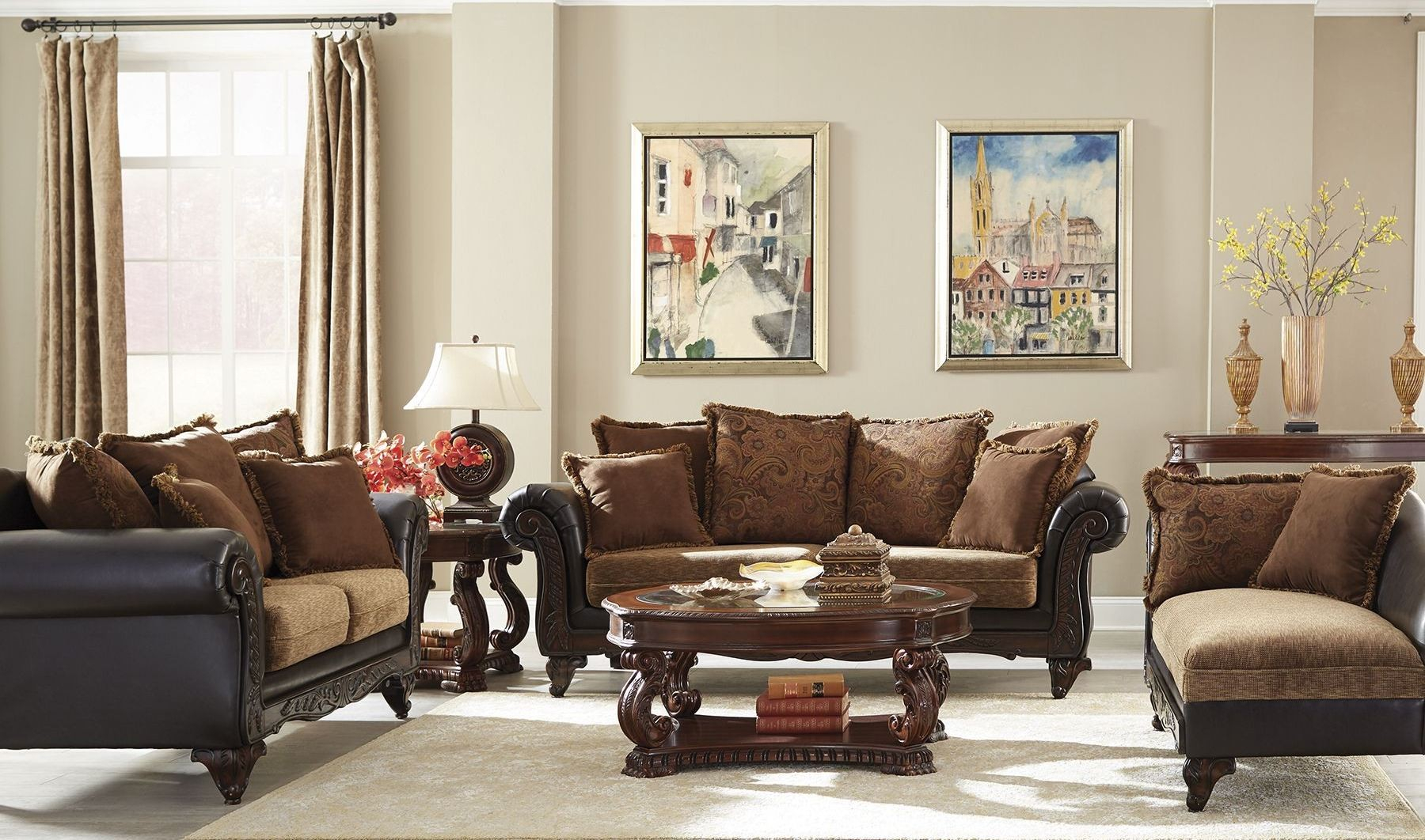 Garroway Russet Chocolate Living Room Set From Coaster Coleman intended for 12 Awesome Concepts of How to Craft Chocolate Living Room Set