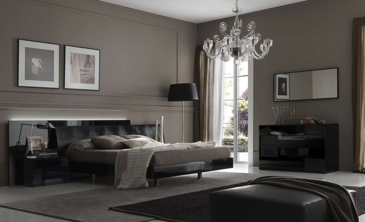Grey Contemporary Wallpaper For Bedrooms Wallpapersafari intended for Modern Gray Bedroom Ideas