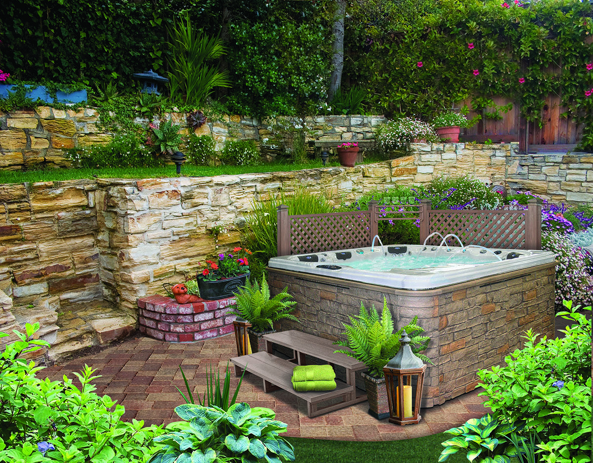 Hot Tub Landscaping For The Beginner On A Budget Hot Tub throughout 14 Genius Ideas How to Upgrade Backyard Hot Tub Landscaping