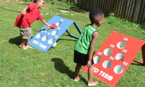 How To Make A Diy Backyard Bean Bag Toss Game in Backyard Game Ideas For Adults