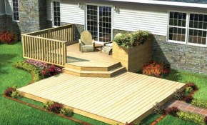Ideas Exterior Backyard Deck Contemporary Wooden Tierra Este 84181 in 14 Smart Initiatives of How to Makeover Patio Deck Ideas Backyard