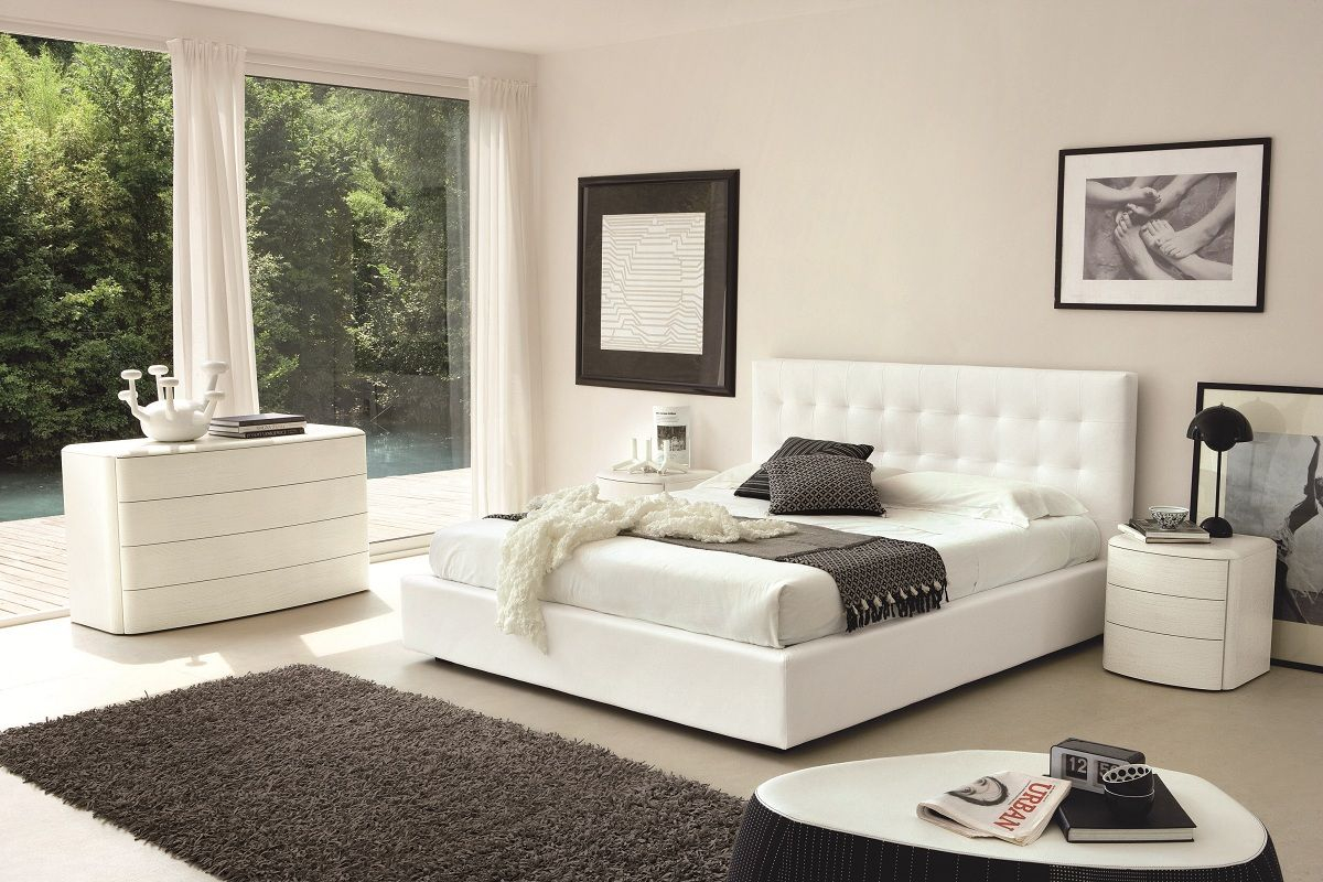 Ideas For Bedroom With White Modern Bed Ediee Home Design throughout 11 Some of the Coolest Tricks of How to Craft White Modern Bedrooms