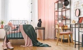Industrial Black Furniture And Cute Pink Textiles In A Teenage with 10 Smart Designs of How to Build Modern Bedrooms For Teens