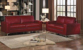 Iniko 2 Piece Living Room Set Red Buy Online At Best Price pertaining to Red Living Room Sets For Sale