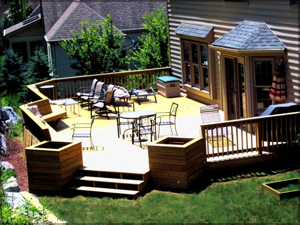 Inspiring Small Backyard Deck Ideas On A Budget Hovgallery Beautiful with Deck Ideas For Small Backyards