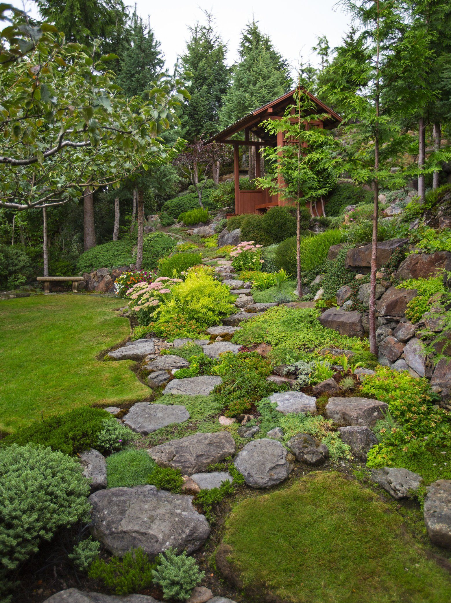 Its A Great Garden If You Like Hiking And Views Or Youre A throughout 11 Awesome Ideas How to Makeover Wooded Backyard Ideas