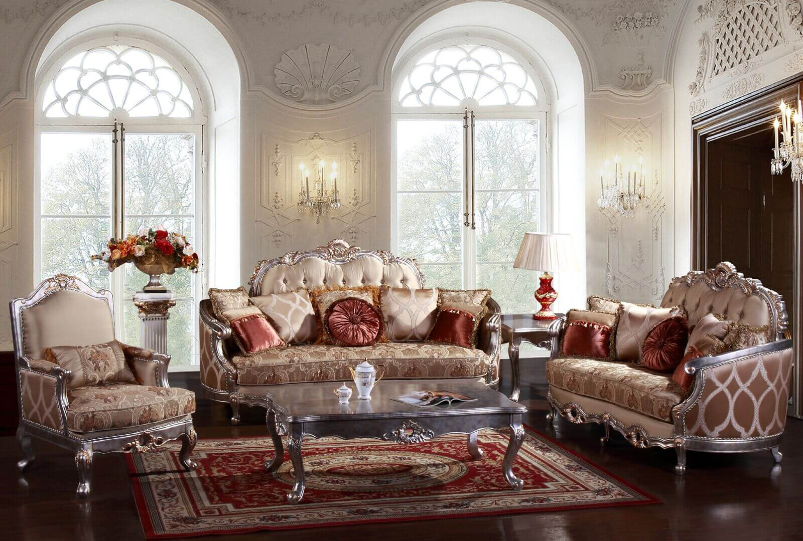 Jewel 3 Pc Living Room Set Antique Recreations with regard to Living Room Set On Sale