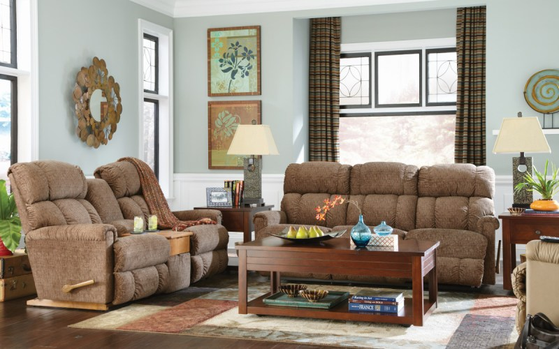La Z Boy Pinnacle Reclining Living Room Group The Furniture Store for LaZBoy Living Room Set