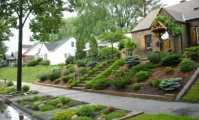 Landscaping For Sloped Front Yard With Steps Home Front Yard regarding Landscaping Sloped Backyard