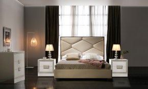 Leather Headboard High End Bedroom Furniture New York New York Esf within Modern Bedroom Sets NYC