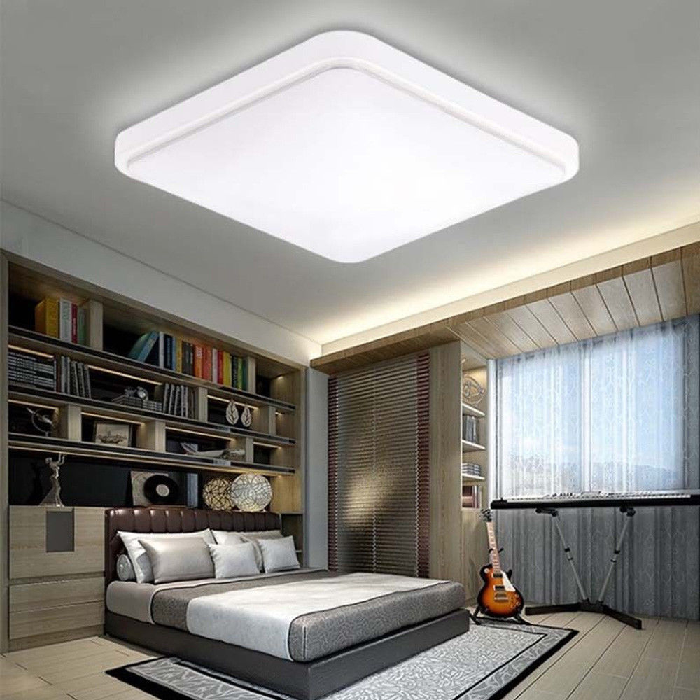Led Square Ceiling Light Modern Lamp Living Room Bedroom Fixture within 11 Smart Concepts of How to Upgrade Bedroom Ceiling Lights Modern