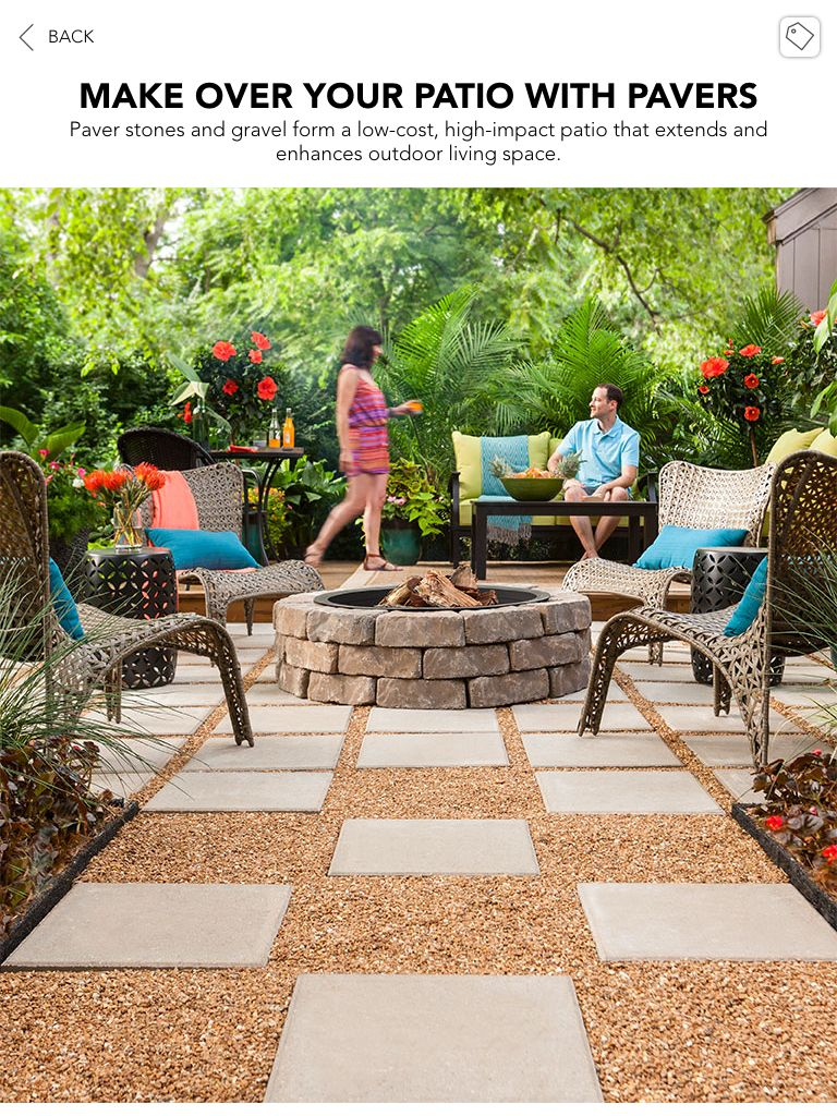 Lowes Creative Ideas Paver And Pea Gravel Patio Landscape In 2019 within 12 Awesome Ideas How to Improve Lowes Backyard Ideas