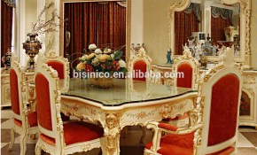 Luxury French Rococo Style Angel Dining Table Set Antique Palace within French Style Living Room Set