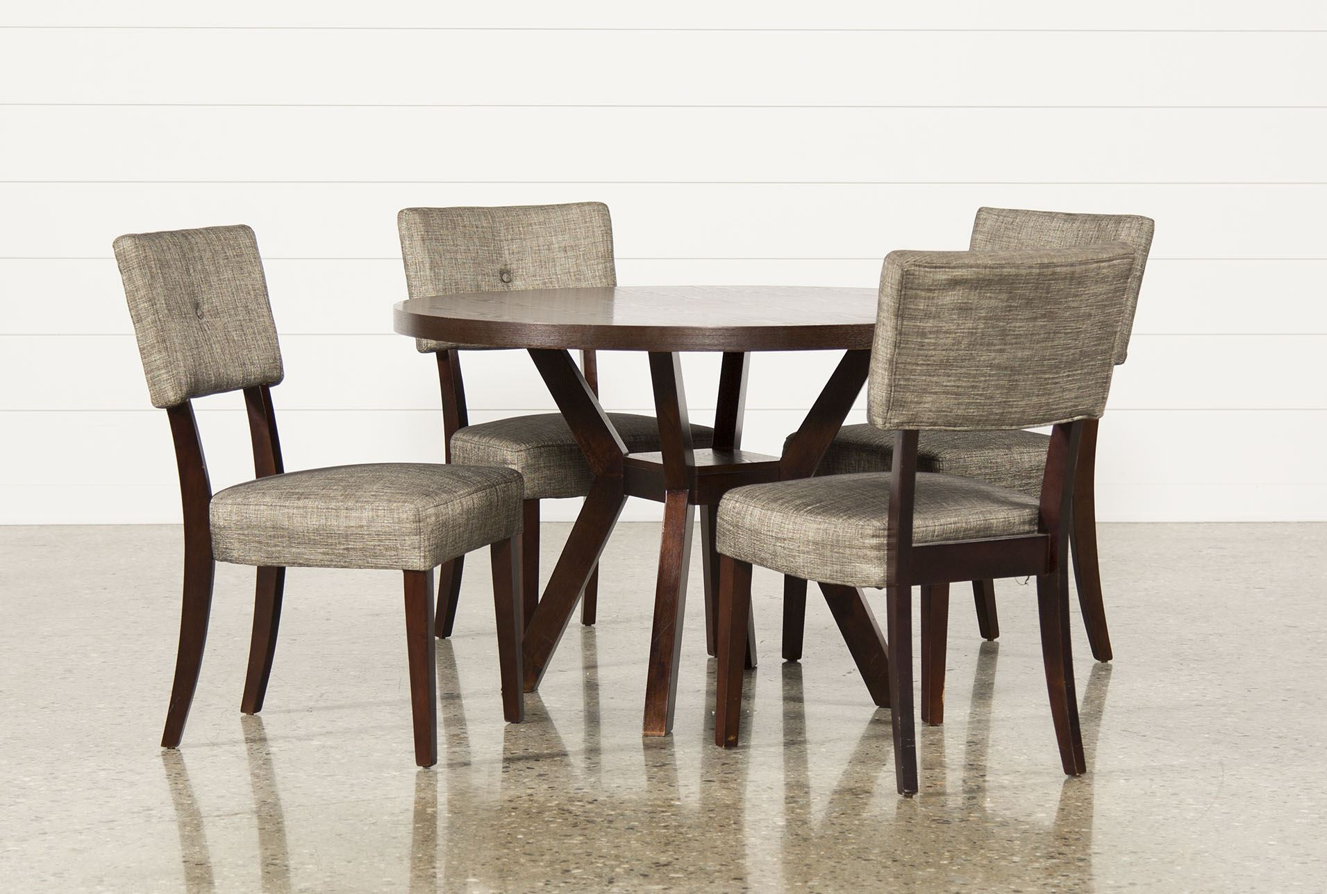 Macie 5 Piece Round Dining Set Living Spaces Dining Room Italian pertaining to Living Spaces Dining Room Sets