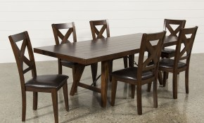 Malcolm 7 Piece Dining Set 360 Corona Home Dining Chairs within Living Spaces Dining Room Sets