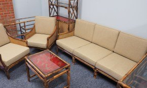 Mid Century Bamboo Rattan And Cane Living Room Set For Sale At Pamono regarding Bamboo Living Room Set