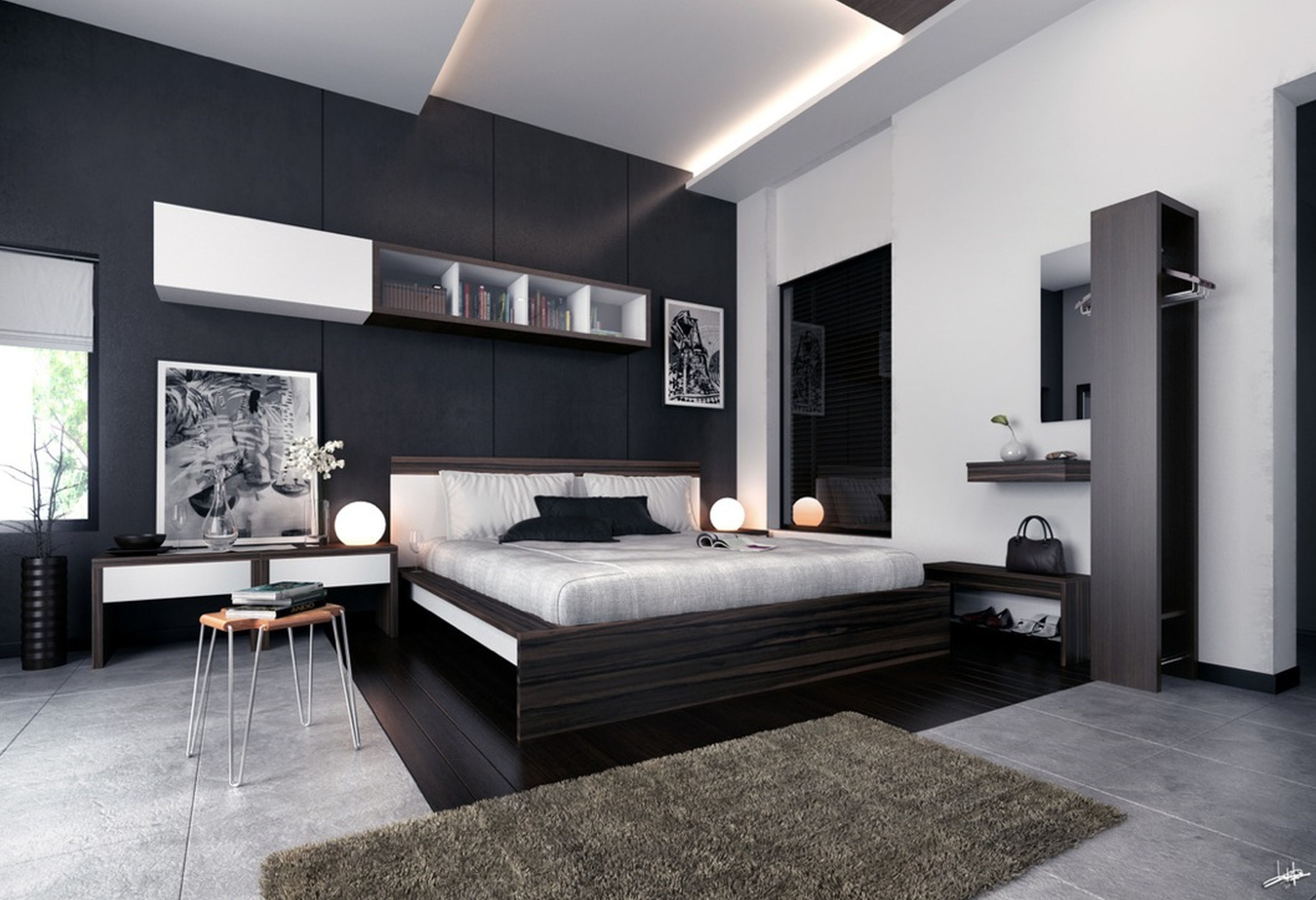 Modern Bedroom Black And White Black And White Modern Decor intended for 15 Some of the Coolest Concepts of How to Makeover Modern White Bedroom Ideas