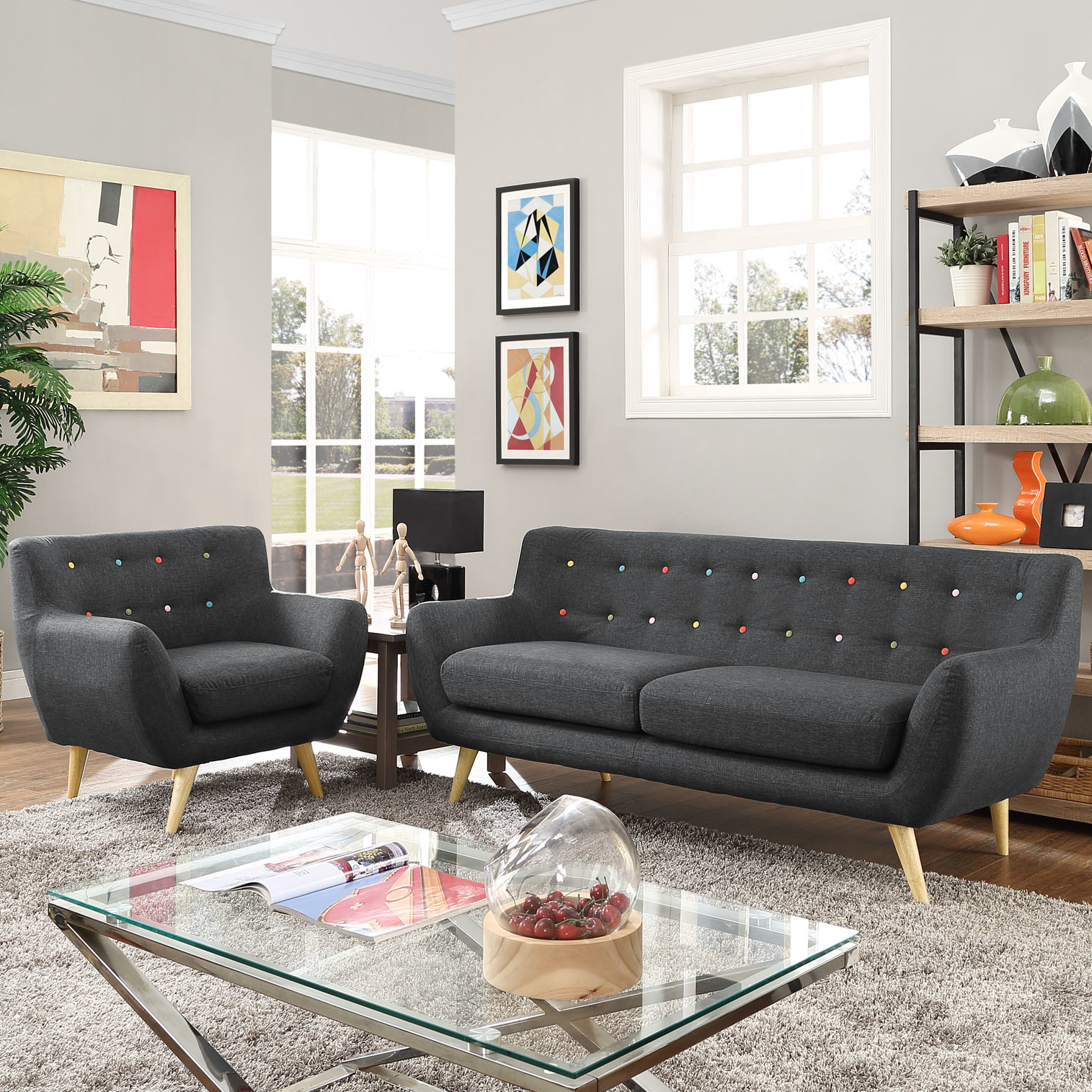 Modern Contemporary Living Room Furniture Allmodern throughout 13 Clever Tricks of How to Upgrade Complete Living Room Sets With Tv