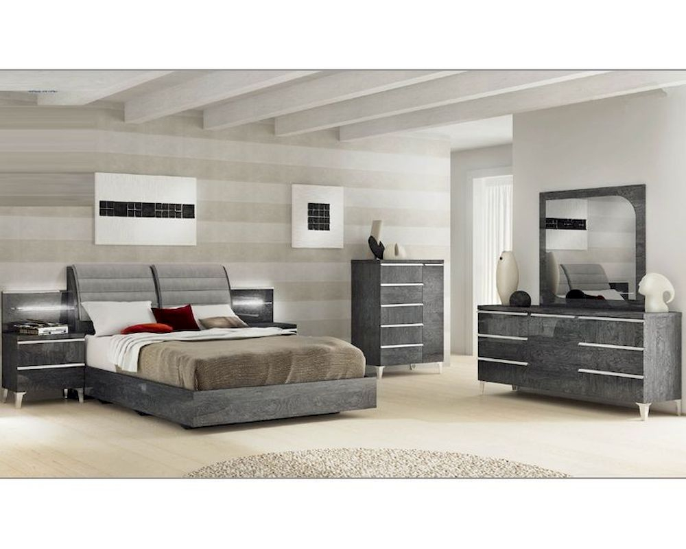 Modern Italian Bedroom Set Elite 3313ei within Modern King Size Bedroom Set
