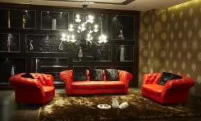 Modern Red Leather Living Room Furniture Sets Amberyin Decors with regard to Red And Black Living Room Sets