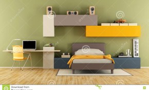 Modern Teenage Boy Bedroom Stock Illustration Illustration Of in 15 Awesome Tricks of How to Improve Modern Teen Boy Bedroom