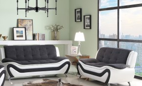 Orren Ellis Obermeyer 2 Piece Living Room Set Wayfair within White And Black Living Room Set