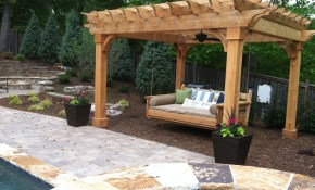 Outdoor Patio Pergola Swing Ideas Porch Set Plans Gardens Bed Swings pertaining to 13 Clever Ideas How to Upgrade Backyard Swing Ideas