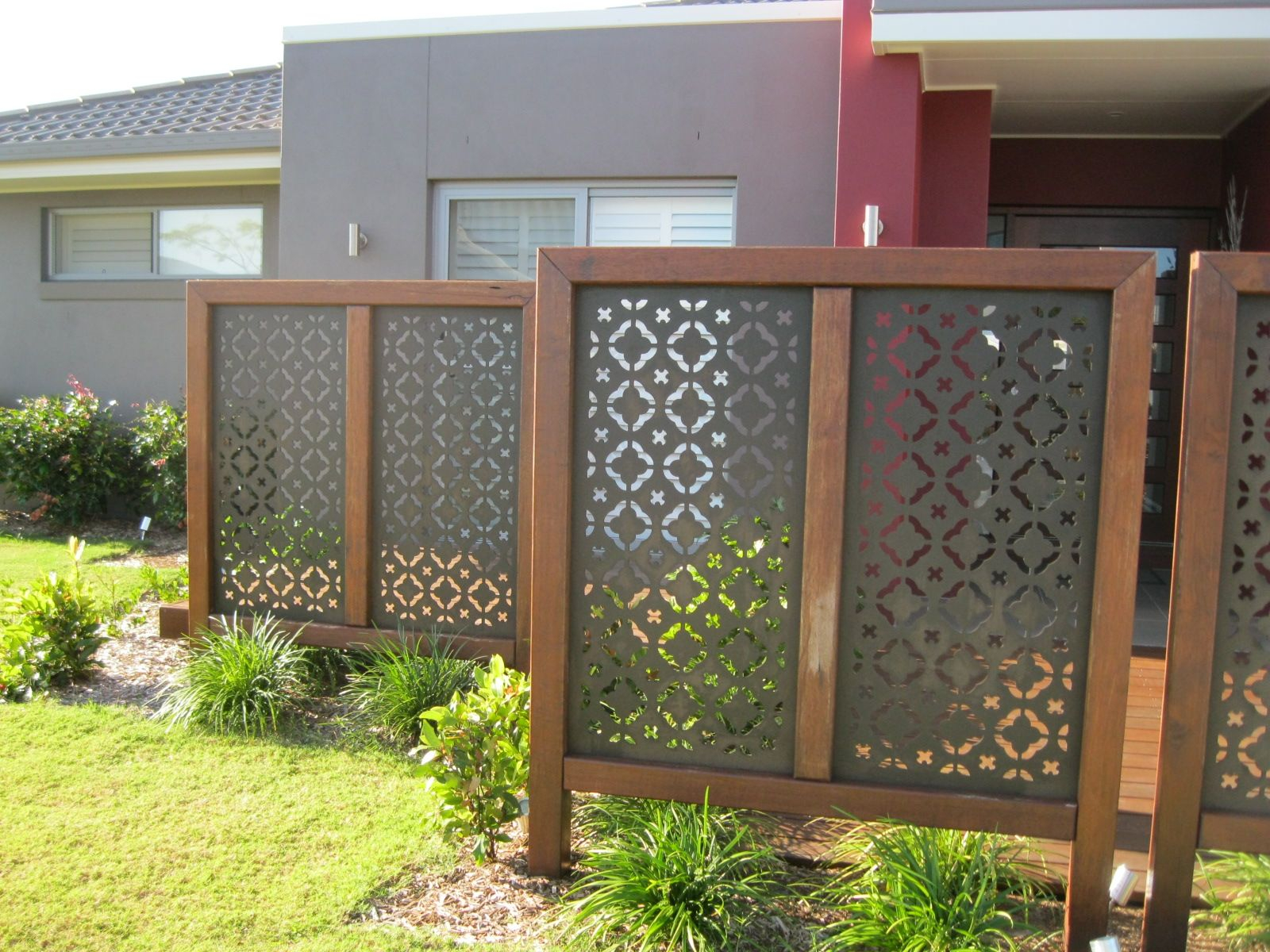 Outdoor Privacy Screens Laser Cut Metal Screen Decorative Iron in Backyard Screen Ideas
