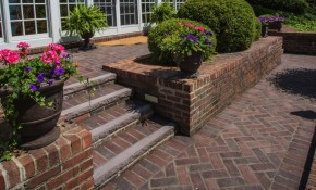 Patio Design Ideas Using Concrete Pavers For Big Backyard Style with regard to Backyard Ideas With Pavers