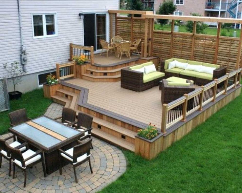Patio Ideas Small Backyard Deck Gallery Picture Designs About Deck intended for 13 Clever Ideas How to Make Deck Ideas For Small Backyards