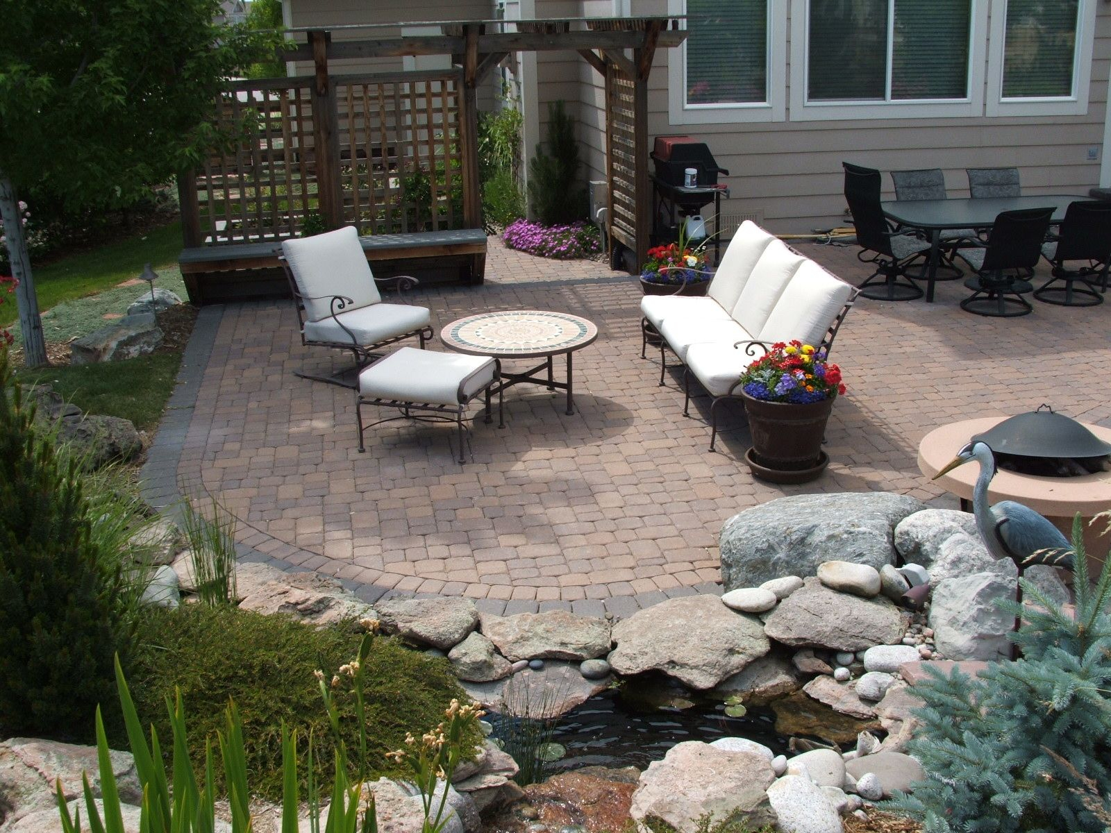 Patios Walkways Arlington Fence And Deck Company Patios in Paver Ideas For Backyards