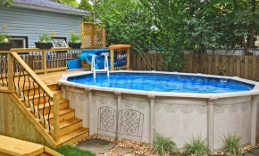 Pool Deck Ideas Partial Deck Pool Deck And Landscaping Pool in Backyard Pool Deck Ideas
